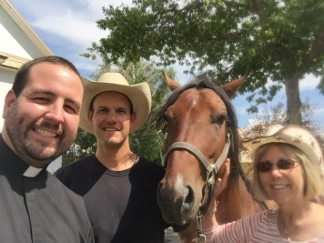 Dr. Lynch visited Deacon Bryce, Chief (the horse), and myself!